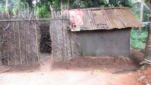 The Water Project:  Bath Shelter And Latrine