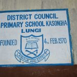 The Water Project: Lungi, Kasongha, DEC Kasongha Primary School -  School Sign