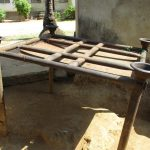 The Water Project: Lungi, Mahera, Mahera Health Clinic -  Dishrack