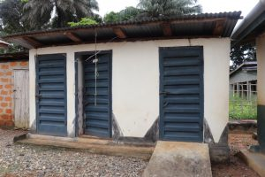 The Water Project:  Health Center Latrine