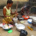 The Water Project: Lungi, Mahera, Mahera Health Clinic -  Woman Cooking