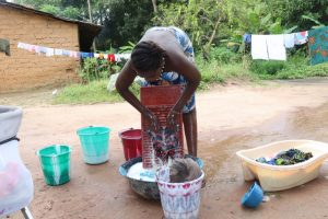 The Water Project:  Young Girl Laundering