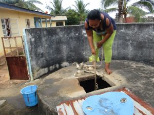 The Water Project:  Lady Collecting Water