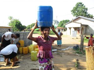 The Water Project:  Girl Carrying Water