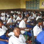 The Water Project: Lungi, Madina, St. Mary's Junior Secondary School -  Students Inside Classroom