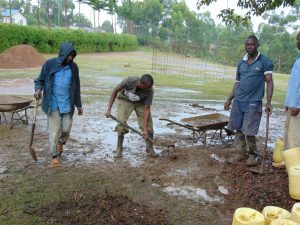 The Water Project:  Artisans Working In The Rain