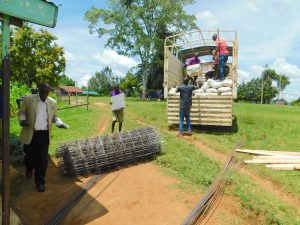 The Water Project:  Construction Materials Delivered To School