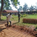 The Water Project: Nanganda Primary School -  Preparing Construction Materials