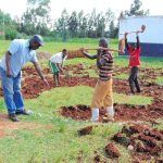 The Water Project: Ebulonga Mixed Secondary School -  Rain Tank Excavation Begins