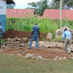 The Water Project: Banja Primary School -  Measuring The Rain Tank Foundation
