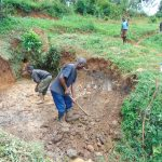 The Water Project: Munenga Community, Francis Were Spring -  Excavation Begins