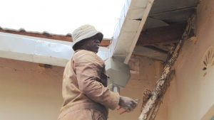 The Water Project:  Artisan Fits The Guttering System