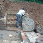 The Water Project: Bumira Community, Madegwa Spring -  Rub Wall And Stair Construction