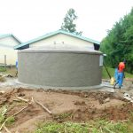 The Water Project: Kapkures Primary School -  Tank Nears Completion