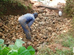 The Water Project:  Backfilling With Stones Continues