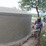 The Water Project: Banja Primary School -  Outer Plaster Work