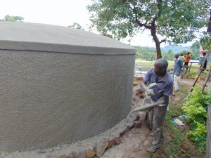 The Water Project:  Outer Plaster Work