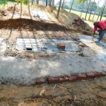 The Water Project: Shichinji Primary School -  Latrine Foundation Construction