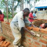 The Water Project: Shichinji Primary School -  Latrine Walls Take Shape