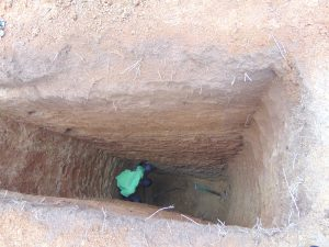 The Water Project:  Sinking A Latrine Pit By Hand