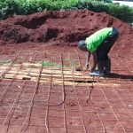 The Water Project: Kakamega Muslim Primary School -  Setting The Latrine Foundation
