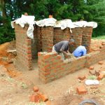 The Water Project: Kapkures Primary School -  Latrines Take Shape Brick By Brick