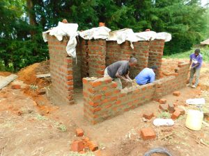 The Water Project:  Latrines Take Shape Brick By Brick