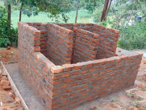 The Water Project:  Latrine Walls And Stalls Take Shape