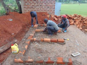 The Water Project:  Latrine Foundation Underway