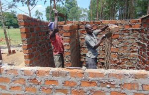 The Water Project:  Latrines Going Up Brick By Brick