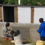The Water Project: Banja Primary School -  Confirming Latrine Measurements