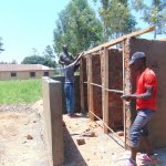 The Water Project: Nanganda Primary School -  Framing Latrines