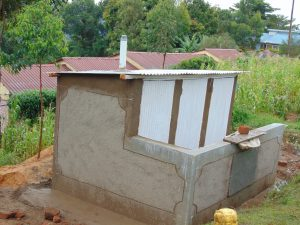 The Water Project:  Nearly Complete Latrine