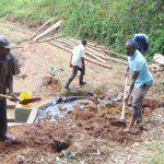 The Water Project: Bumira Community, Madegwa Spring -  Addin Soil To Backfill