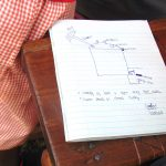 The Water Project: Kakamega Muslim Primary School -  A Student Diagrams Rain Tank Parts During Training