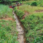 The Water Project: Munenga Community, Francis Were Spring -  Drainage Trench Leading Awat From Spring