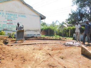 The Water Project:  Preparing The Rain Tank Foundation