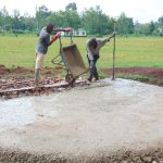 The Water Project: Kakamega Muslim Primary School -  Pouring Concrete Foundation