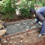 The Water Project: Emulembo Community, Gideon Spring -  Construction Of Sanitation Platform