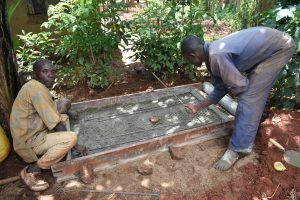 The Water Project:  Construction Of Sanitation Platform
