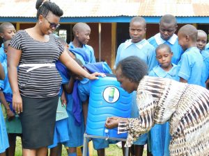 The Water Project:  A Teacher Demonstrates Handwashing