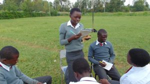 The Water Project:  A Pupil Reads Her Groups Answers