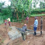 The Water Project: Munenga Community, Francis Were Spring -  Building Fencing