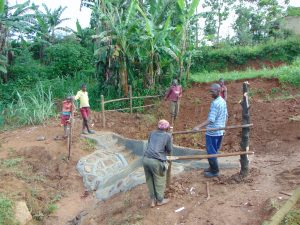 The Water Project:  Building Fencing