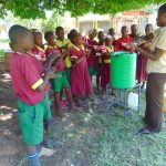 The Water Project: Nanganda Primary School -  Handwashing Practice