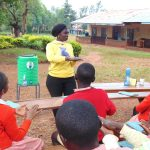 The Water Project: Kakamega Muslim Primary School -  Trainer Laura Alulu Leads Handwashing Session