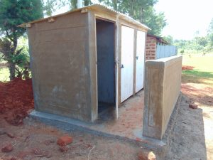 The Water Project:  Latrine Block Nearing Completion