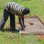 The Water Project: Bumira Community, Madegwa Spring -  Sanitation Platform Construction