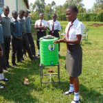 The Water Project: Ebulonga Mixed Secondary School -  Now A Student Leads Handwashing