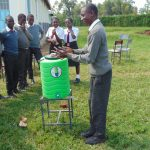 The Water Project: Ebulonga Mixed Secondary School -  Students Demonstrates Handwashing